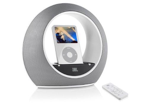 JBL Radial micro Lautsprecher-System inkl. Fernbedienung für Apple iPod weiss