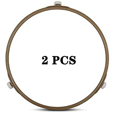 Microwave Turntable Ring,8.7 Inch Microwave Oven Tray Rotating Roller Support Ring Large Glass Plate Tray Wheel Ring(2 PCS)