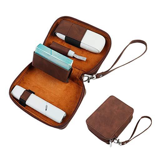 ZhizuoZhe-Design IQOS3用 ケース MULTI用 ケース 電子タバコ ケース レザー カバー 財布型 革 カード入れ 電子たばこ アイディー スティック 本体 全部収納
