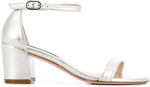 Stuart Weißzman Damen SIMPLEMETALLICNAPPA Silber Leder Sandalen