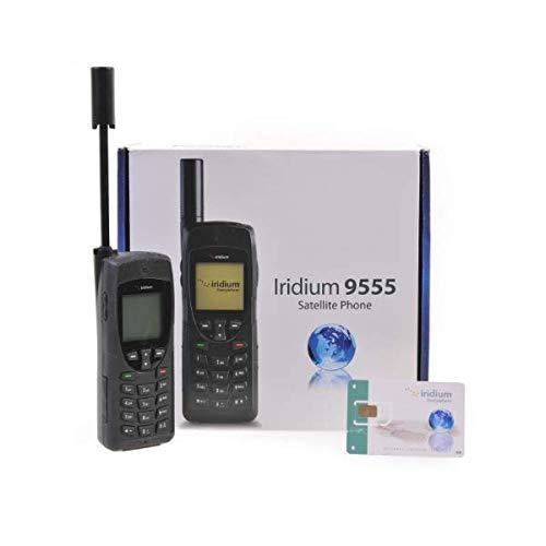 Iridium 9555 Teléfono Satelital con Tarjeta SIM Prepago de 75 Minutos/ 30 Días