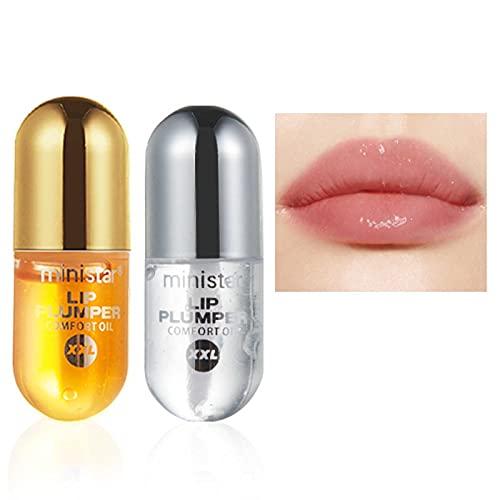 Natural Lip Plumper,Sérum pour Les lèvres,Jour et Nuit,Brillant à lèvres aux extraits de plantes pour des lèvres plus pulpeuses de beauté hydratées,uile de Gingembre et Menthe hydratante.