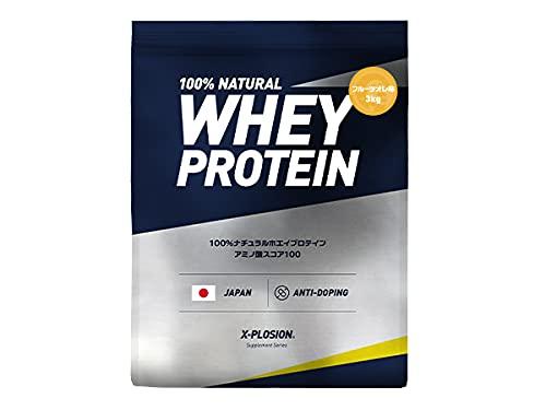 エクスプロージョン ホエイプロテイン 3kg 約100食分 フルーツオレ味 大容量 国内製造