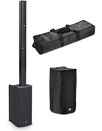 LD Systems MAUI 11 G2 Aktivanlage Set (All-in-One Säulenlautsprecher, 500 W RMS Class-D-Systempower, 4-Kanal Mixer inkl. Bluetooth® Stereo Audio Streaming, Set inkl. Tragetasche, Schutzhülle) Schwarz