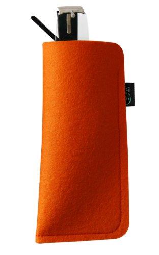 KringsFashion Brillenetui aus Filz, blanko, orange, hochwertiger Marken-Filz, Filz und Produktion aus Deutschland!