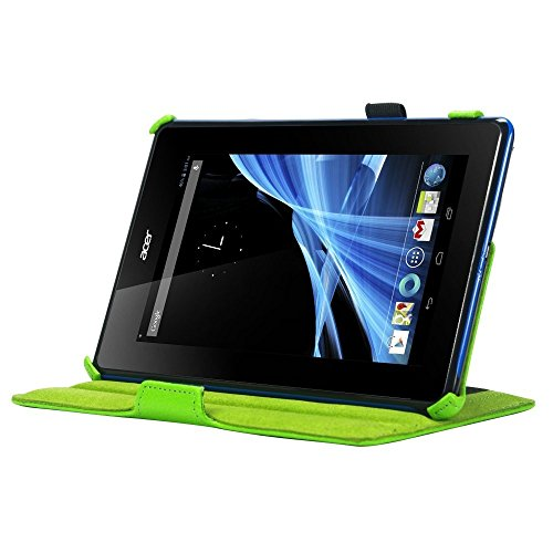 Navitech B1-A71 Multi Stand Leather Case for Acer Iconia Tab - Green