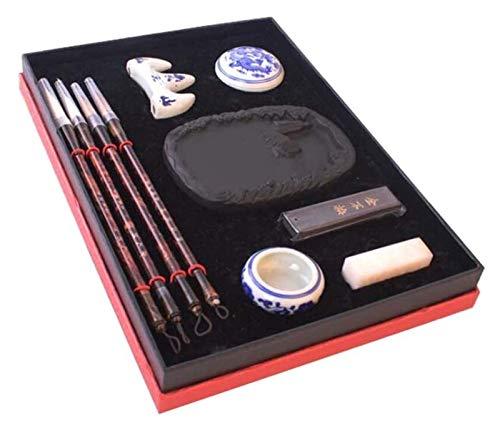 Pincel de escritura, juego de pinceles de caligrafía, escritura tradicional china, pintura, caja de regalo de alta calidad