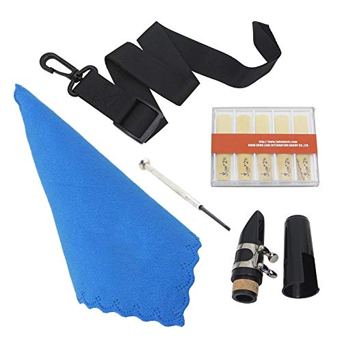 5-in-1-Klarinetten-Blätter-Set Mit Mundstück, Schachtel mit Blatt, Gürtel, Tuch und Schraubendreher, Zubehörset für Gute Klarinetten