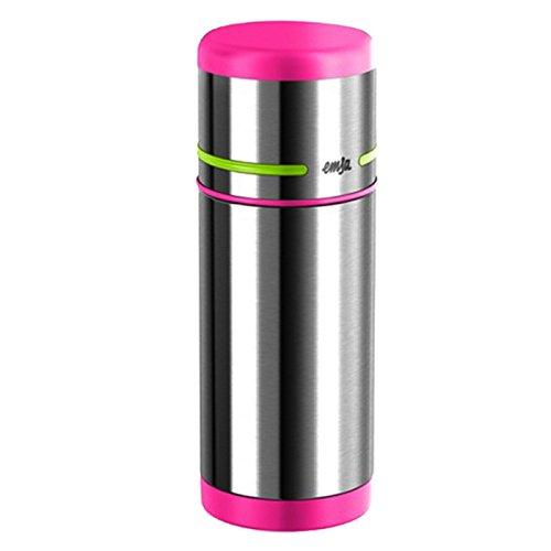 Emsa Mobility Kids, Pink/Grün, 0,35L Isolierflaschen, Edelstahl, 8 x 8 x 15 cm