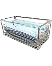 Creative Planet Hygienic Face Mask Storage Box, Mask Case, Stylish Transparent Acrylic Container. Organize and Protect Your Masks (Classic-Single)