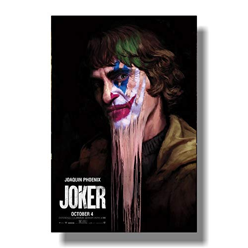 Película Joker Seda Poster Joker Origin Movie Prints s Wall Art Decor Pictures Joaquin Phoenix Posters-Sin marco-16X24cm