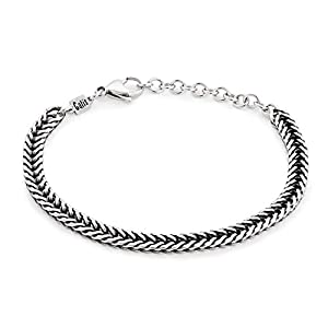 Handmade Cuff Chain Bracelet For Men Made Of Stainless Steel By Galis Jewelry – Silver Bracelet For Men – Cuff bracelet…