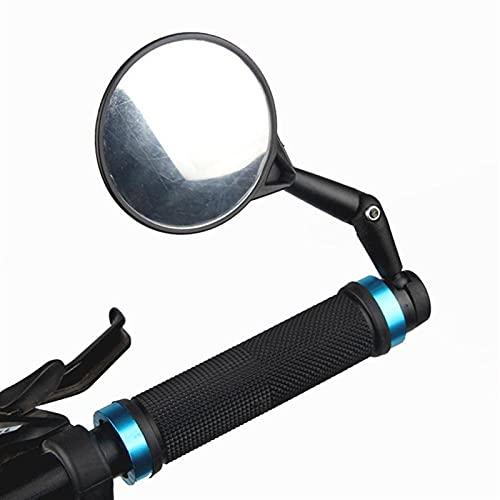 Bicicleta retrovisor 75 mm espejo retrovisor convexo en ángulo ajustable para bicicletas Motocicletas Scooters Amplia Range Ancilas Accesorios de bicicleta (Color : BLACK)