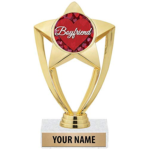 "Crown Awards 6"" Customizable Boyfriend Trophy"