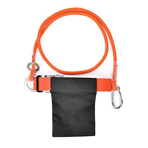 WLH Outdoor Lightweight Rock Klettern Einzelne Taille Sicherheitsgurt Für Arbeit Alloft Elektriker Orange 1.6m Kleine Haken