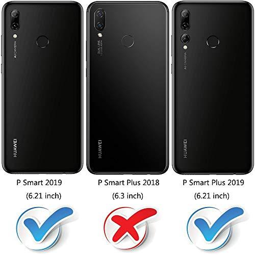 MOBESV Handyhülle für Huawei P Smart Plus 2019, Honor 20 Lite Hülle Leder, Huawei P Smart+ 2019 Klapphülle Handytasche Case für Huawei P Smart Plus 2019 / Honor 20 Lite Handy Hüllen, Schwarz - 2