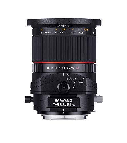 Samyang 24/3,5 Objektiv DSLR T/S Nikon F manueller Fokus Tilt and Shift Fotoobjektiv Weitwinkelobjektiv schwarz