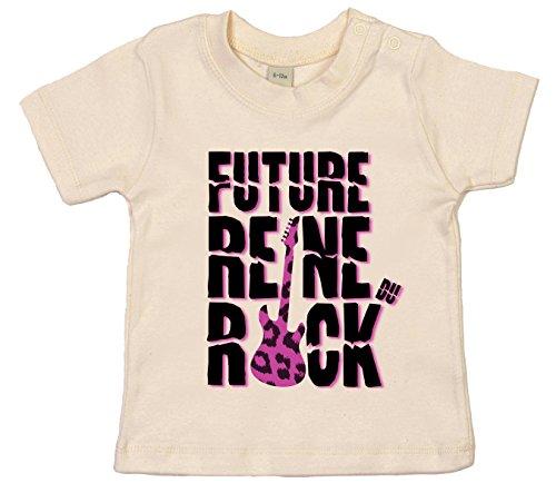 Dirty Fingers Future Reine du Rock T-Shirt bébé 0-6 Mois Beige