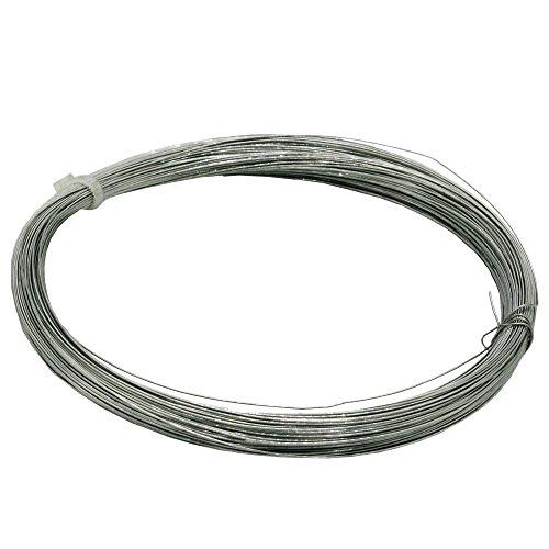 Christoph Palme Leuchten Eisendraht 0,4 mm verzinkt 50m gebunden, auch Basteldraht Flechtdraht Spanndraht Bindedraht Stahldraht Deko-Draht genannt