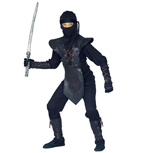 WIDMANN 38797?Disfraz de guerrero ninja 'Ninja Master' de talla 8/10aos , color/modelo surtido