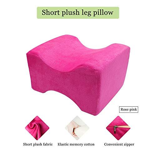 Hoofdkussen van traagschuim, Wedge Sleeping Knee Pillow voor zijslapers, rugpijn, verlichting van ischiatien, zwangerschapskussen, lichaamskussen, beenkussen Roze