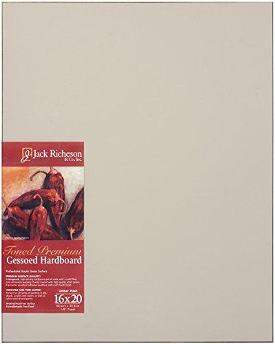 Jack Richeson Umber Wash Toned Gessoed 1/8 Hardboard 16