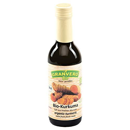 GRANVERO, Bio Kurkumasaft, 1 Flasche 250 ml, 100% Direktsaft DE-ÖKO-006