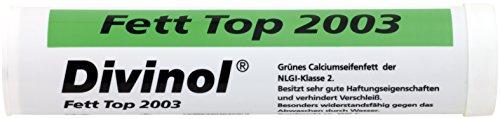 Vetpatroon Divinol KP2G-30 vet top 2003 400 g, multifunctioneel vet, hoge viscositeit van basisolie, extreem hechtend, sterk waterafstotend, voor plaatsen met een hoge vochtigheid, zout water invloed, stootbelasting