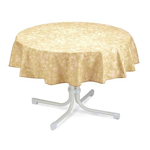 BEST 09820693 Tischdecke rund 160 cm, beige