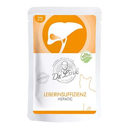Dr. Link Spezial-Diät Leberinsuffizienz | Hepatic Geflügel und Rind |16 x 85 g | Nassfutter für Katzen