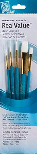 Princeton Art & Brush Valor Real sintética p9174de Color Blanco Taklon Brush Set