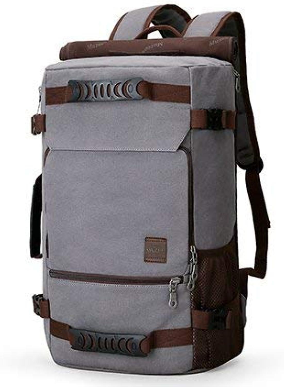 Reeseiy Rucksack Herren Canvas Rucksack Groe Kapazitt Tasche Für Jungen Business Laptop Bag Daypacks Reise Rucksack 39 6 cm (Farbe   Grau, Größe   One Größe)