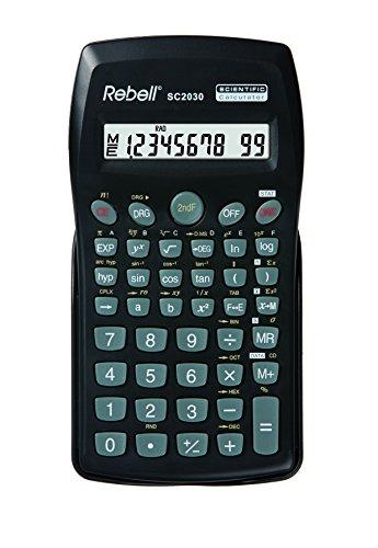Rebell SC2030 SC2030 wetenschappelijke rekenmachine, voor primar- en secundaire scholen, 136 functies, zwart