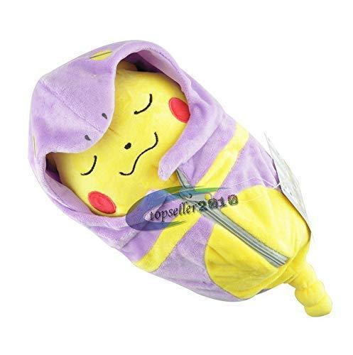 Niedliche Spielzeug Schlafsack Pikachu Eevee Plüsch Spielzeug Kissen Gefüllte Cartoon Anime Puppe Kinder Geburtstagsgeschenk 20 cm lila 1 Stück Pikachu WYYHYPY