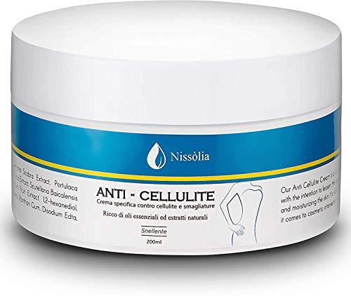 Crema Anticellulite Brucia Grassi - Trattamento Snellente e Drenante Ultra Intensivo Con Estratti Vegetali -200ml