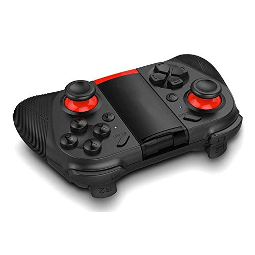 Hojkl Contrôleur de Jeu Bluetooth Gamepad Wireless Controller Manette De Jeu for IPhone Andriod Tablet PC Gamepad (Color : Black, Size : One Size)