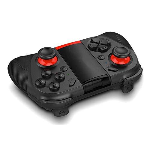 Contrôleur de Jeu Bluetooth Gamepad Wireless Controller Manette De Jeu for IPhone Andriod Tablet PC Téléphone Mobile (Color : Black, Size : One Size)