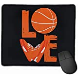 Basketball And Shoes Love Rectangle Non-Slip Mousepad Gaming Mouse Pad
