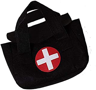 "Storybook Wishes Black Pretend Play Small 7""x5"" Toy Doctor Medical Bag"