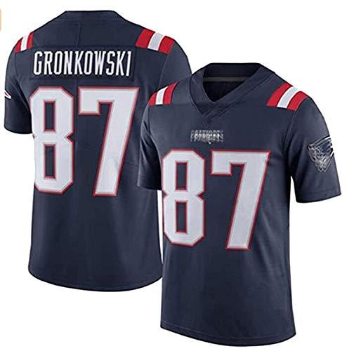 Pǎtriots Rugby Trikots Gronkowski # 87 Néw Englánd, Bestickte American Football Trikots Erwachsene Männer Kurzarm Outdoor Casual T-Shirts F-M