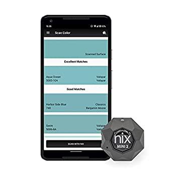 Nix Mini 2 Color Sensor Colorimeter - Portable Color Matching Tool - Identify and match paint and digital color values instantly