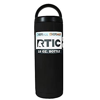RTIC Black Matte 18 oz Stainless Steel Bottle