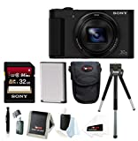 Sony DSC-HX80 High-Zoom Point and Shoot Camera with Sony 32GB Memory Card & Focus Accessory Bundle