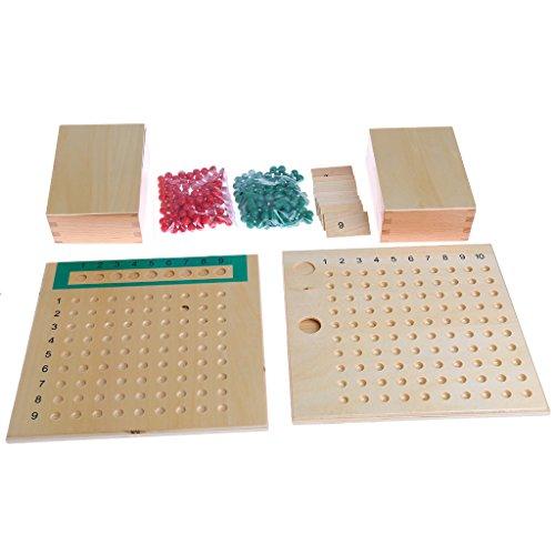 MiSha Tablero de multiplicación y división, Montessori matematicas Juguete de Madera Montessori Montessori Juguetes educativos