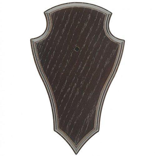 EUROHUNT 5er Pack Rehbock Gehörnbrettchen Eiche 22x13cm dunkel Spitze Trophäenschilder