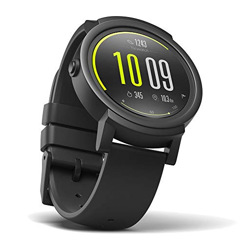 Mobvoi Ticwatch E (Express) Smartwatch 44mm Polycarbonate - Black TicWatch E shadow (Renewed)