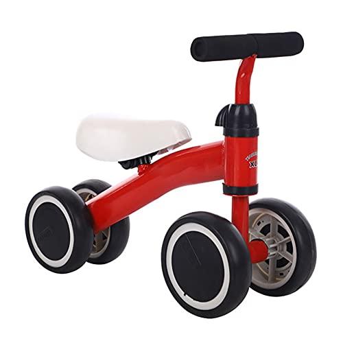 Bicicleta para niños pequeños caminantes, juguetes para niños de más de 10 meses, niños y niñas sin pedalInfant Bicicleta infantil con altura ajustable, el mejor regalo de primer cumpleaños rojo,