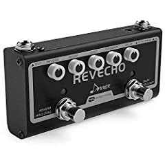 1.Convenient compact size. 2.LED indicator shows the working state. 3.Twin pedal combining delay and reverb effects in one. 4.Tap Tempo function for instant delay time control. 5.Suitable for any music style.