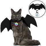 Legendog Halloween Katze Kleidung, Fledermaus Flügel Cosplay Katze Hund Kostüm mit Haustier Kragen...