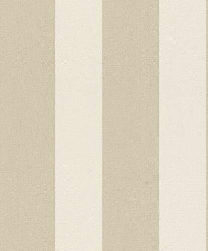 Rasch Tapeten Vliestapete (universell) Beige Creme 10,05 m x 0,53 m Tapetenwechsel 633450 Tapete, 10.05 0.53 m